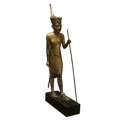 The Statue of Tutankhamun Wearing the Red Crown