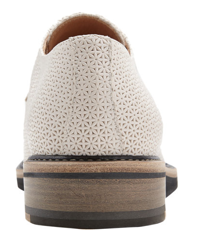 Stamped And Delivered:  Dries Van Noten Stamped Leather Wedge Bluchers