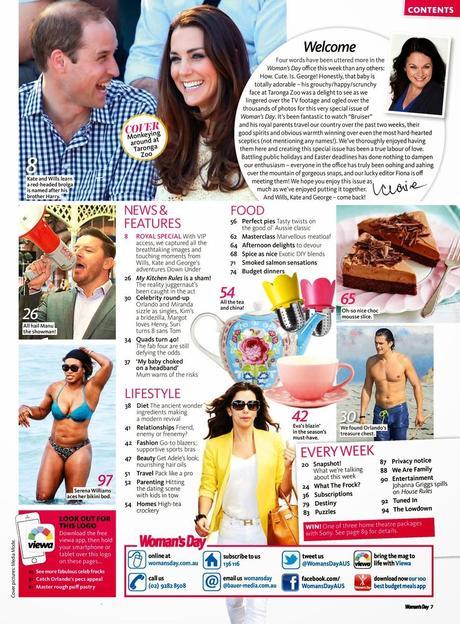 Prince William Windsor, Kate Middleton, Prince Windsor and Kate Middleton, Prince George of Cambridge, Woman's Day Magazine Magazine, Australia, May 2014