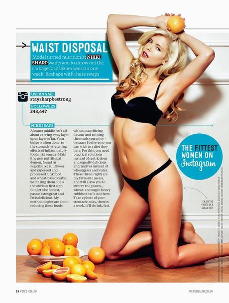 Nikki Sharp For Men's Health Magazine, UK, June 2014