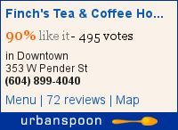 Finch's Tea & Coffee House on Urbanspoon