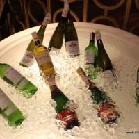 The white wine display