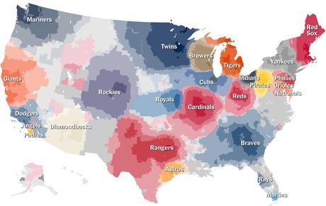 New York Times baseball map