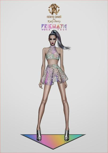 Katy Perry Prismatic Outfit (Roberto Cavalli)