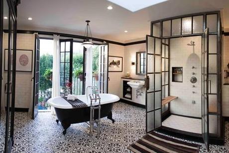 a modern retro bathroom - Retro Bathrooms