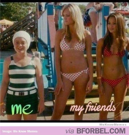 friend bathing suit