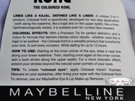Maybelline COLOSSAL KOHL TURQUOISE Review Swatches EOTD