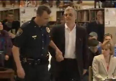 Baer arrest Gilford School Board meeting