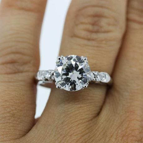 GIA 2.47ct round brilliant diamond