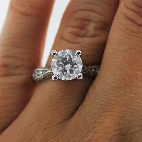 Tacori 18kt white gold engagement ring
