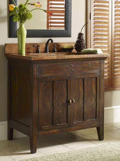 36 Inch Cobre Single Bath Vanity Tuscan Style