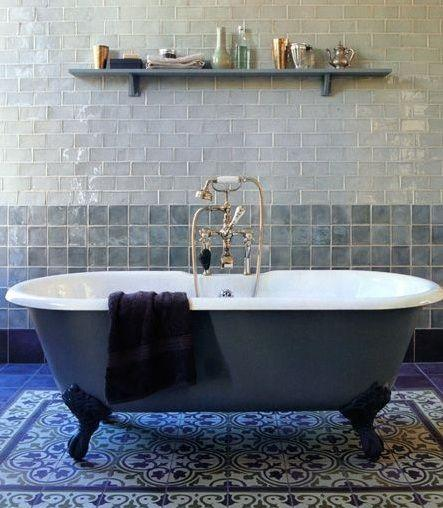 Mediterranean Bathroom Claw foot Tub