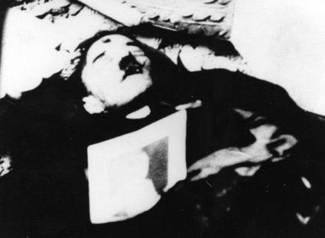 Truly amazing photo, purportedly of a dead Hitler. This photo was found many times in recently opened Soviet archives, suggesting it was Soviet propaganda and may not even be real.