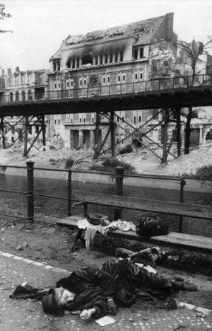 There were many suicides in the period right after the fall. Many of them were German women. They were terrified of the soldiers and the possibility that they might be homeless for the first time in their lives.