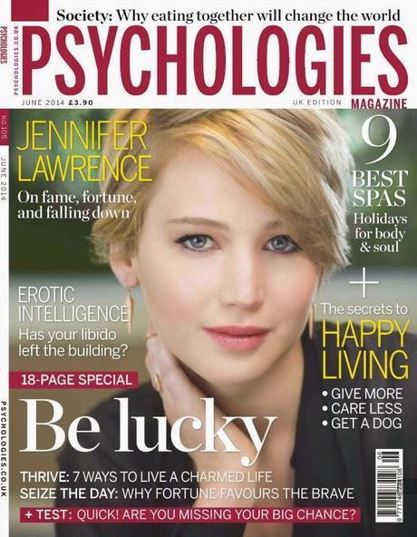 Jennifer Lawrence For Psychologies Magazine Uk June 2014