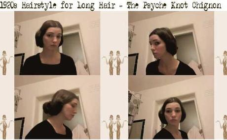 1920s Hairstyle for Long Hair – The Psyche Knot Chignon - Paperblog