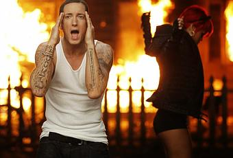 the controversial protest to the music of eminem