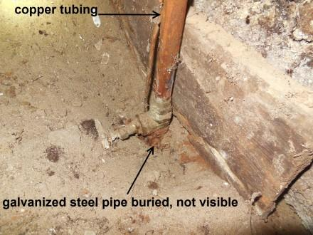 Galvanized Pipes Testing Water Flow At Old Houses Paperblog
