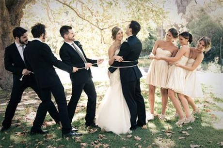Bridal Party Tying the Knot