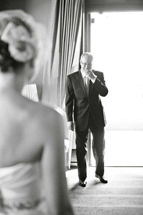 Father Daughter First Look, Father Daughter look on wedding day