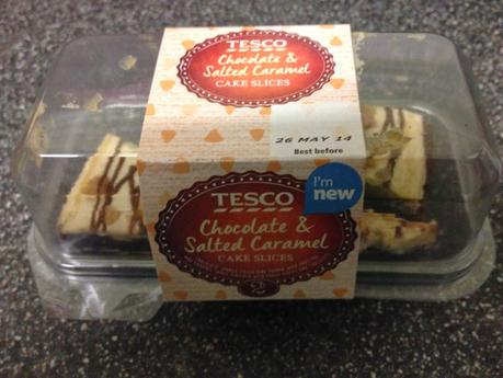 Today's Review: Tesco Chocolate & Salted Caramel Cake Slices