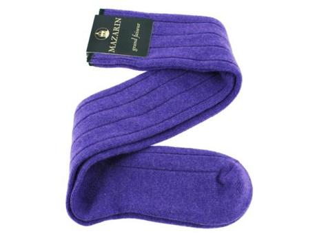 A pair of cashmere socks found on the MCR website!