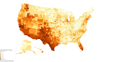 Minority Population Distribution In The United States