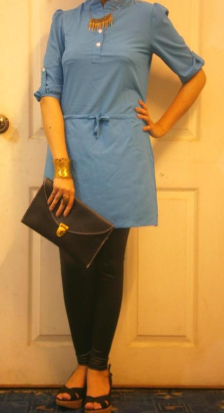 OOTD: Blue Dress