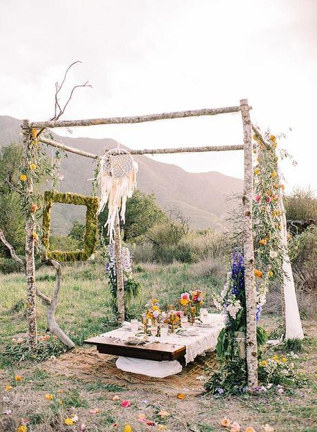 Wedding Inspiration {Bohemian Garden}-1
