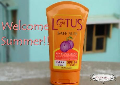Lotus Herbals Safe Sun Block Cream SPF 30 Review