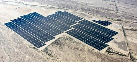 Construction is complete on the world's largest solar photovoltaic plant, Agua Caliente, in AZ