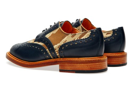The Smirk Of A Handsome Brogue:  Mark McNairy Leather Sole Two-Tone Camo Brogue