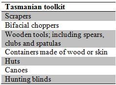 The Tasmanian toolkit. From 3