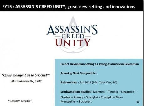 Assassin's Creed Unity one of two Assassin's Creed games out this fall