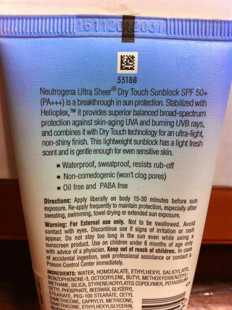 Neutrogena Ultra Sheer Dry-Touch Sunblock with SPF 50 - Review