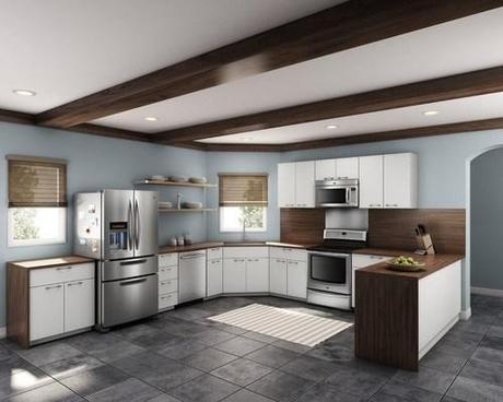 Contemporary Kitchen with Maytag Appliances