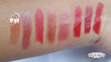 My Red Lip Colors - Budget Friendly Red Lipsticks and Swatches