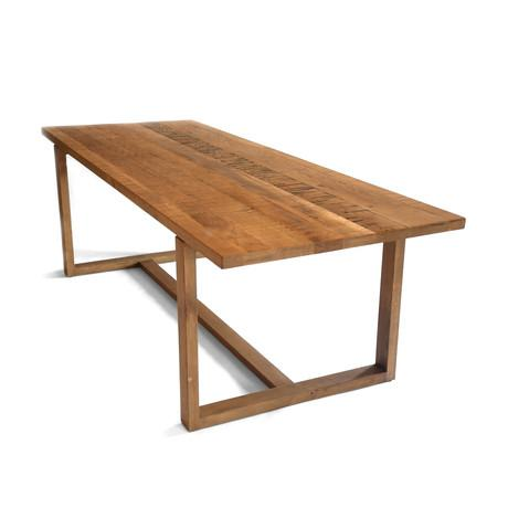 Urbia imports reclaimed hardwood paperblog for Dining table support