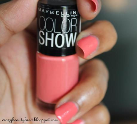 Maybelline Color Show Nail Polish in Coral Craze (211) - Review, Photos, NOTD, Price in India