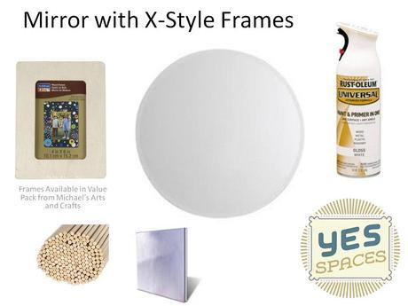 Mirror with X-Style Frames Materials