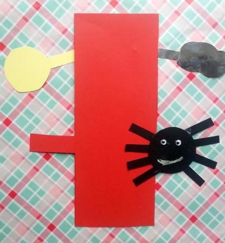 Incy Wincy Spider Nursery Rhyme Craft