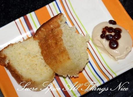 Hot Milk Sponge Cake with Coffee Mascarpone and Coffee Caviar