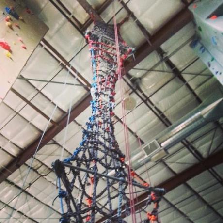 rope ladder used during tough mudder training #toughMudder