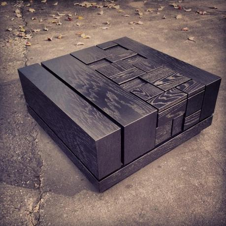 Abaci Black 34 Square Coffee Table - Standard Finish by Farzan Nemat