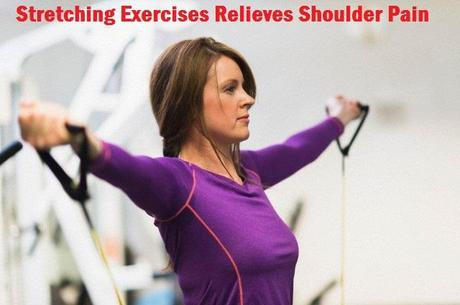 Stretching relieves shoulder pain