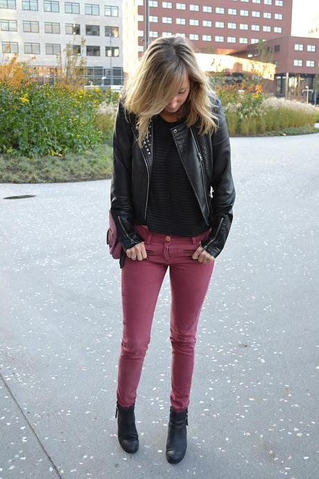 Burgundy jeans it is