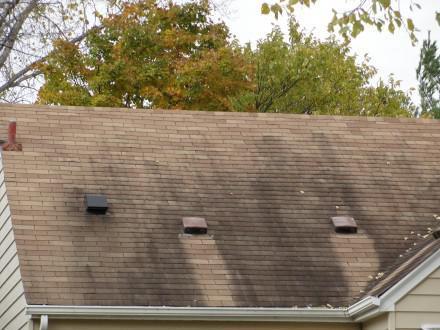 Zinc washing off roof vents