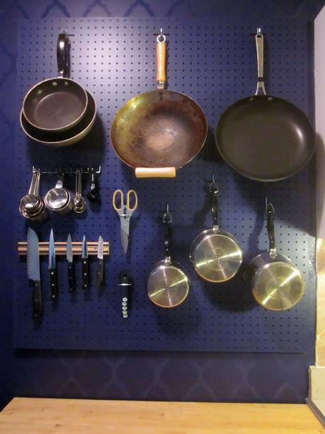 How To: A Kitchen Pegboard Wall Organizer