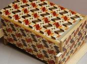 """Yosengi Woodwork Create Japanese Secret Trick Puzzle Called Himitsu Bako """"Secret Box"""""""