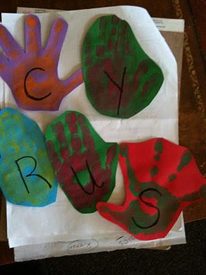 Explore Art Projects: Complementary Hand Prints/ Thankful Tree